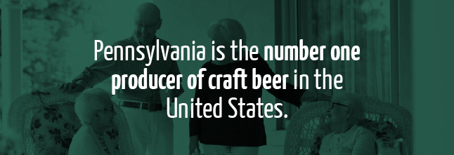 Pennsylvania is the number one producer of craft beer in the United States