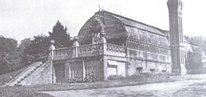 A late 19th century view of the original greenhouse.