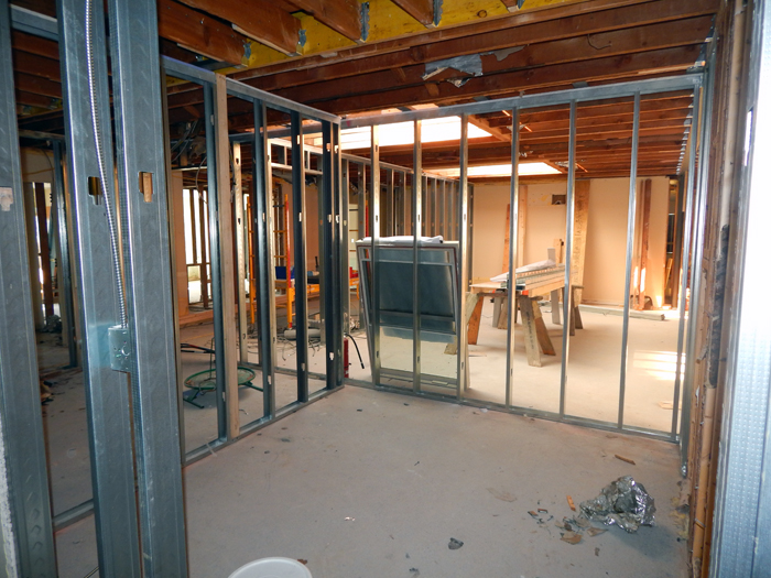 Interior framing has begun on the second floor of Freeman (former Freeman Hall). This is the future site of Administrative and Resident Services staff offices (9-14-2017).