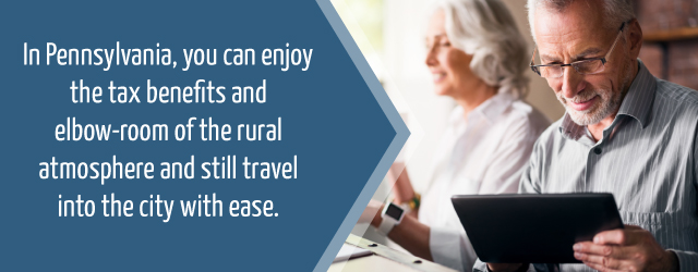 Enjoy tax benefits and having access to rural and city atmospheres